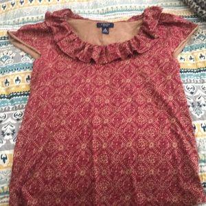 Women's geometric design blouse